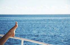 Relaxing on the yacht Royalty Free Stock Images
