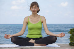 Relaxing yoga Royalty Free Stock Photos