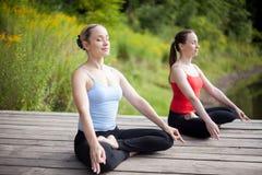 Relaxing yoga asana Stock Images