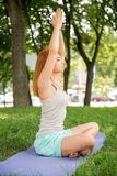 Relaxing with yoga Royalty Free Stock Photography