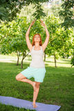 Relaxing with yoga Royalty Free Stock Images