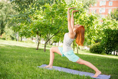 Relaxing with yoga Royalty Free Stock Photos