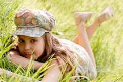 Relaxing young girl Royalty Free Stock Photo