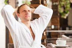 Relaxing young man portrait Royalty Free Stock Photo