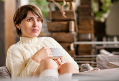 Relaxing young woman portrait Royalty Free Stock Images