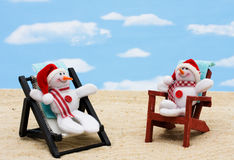 Relaxing on your winter vacation Royalty Free Stock Images