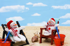 Relaxing on your winter vacation Royalty Free Stock Photography