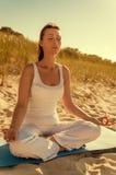 Relaxing zen in the dunes Royalty Free Stock Photo