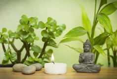 Relaxing zen garden Stock Photo