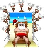 Relaxing_santa_backdrop Stock Photo