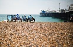 Relaxon la plage Photographie stock
