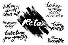 RelaxQSet Photographie stock libre de droits