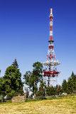 Relay mast over city of Zakopane Royalty Free Stock Photos