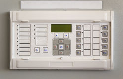 Relay protection device mounted on control panel Stock Photo