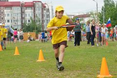 Relay race stock photography