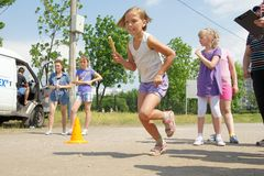 Relay race Royalty Free Stock Photos