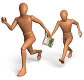 Relay race for bribe money with euro Stock Image
