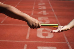 Relay race. Sprinting Sports Track Stock Image