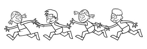 Relay races, coloring book Stock Image