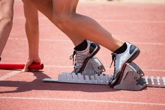 Relay Runner Royalty Free Stock Photography