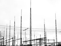 Relay Station  white background. Relay station with white background Royalty Free Stock Image