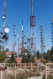 Relay Towers Royalty Free Stock Photos