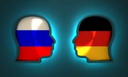 Relazione avveduta ed economica fra la Russia e la Germania Immagini Stock Libere da Diritti