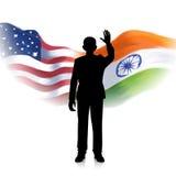 Relazione dell'India-America Fotografia Stock Libera da Diritti