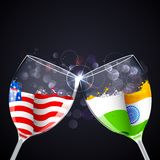 Relazione dell'India-America Fotografie Stock