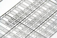 Relazione di attività immagine stock