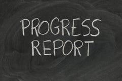 Relazione sullo stato di avanzamento Fotografia Stock