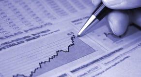 Relazione sullo stato di avanzamento di affari Immagini Stock Libere da Diritti