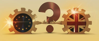 Relazioni dell'Unione Europea e della Gran Bretagna Metafora di Brexit Fotografie Stock