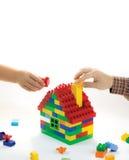 Relazioni della costruzione della famiglia felice Immagine Stock Libera da Diritti