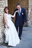 Relazioni dello sposo e della sposa Fotografia Stock