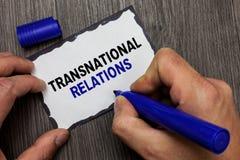 Relazioni sopranazionali del testo della scrittura Diplomazia internazionale di relazione di politica globale di significato di c immagini stock libere da diritti