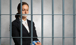 Release of guiltless accused . Mixed media Stock Photography