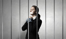 Release of guiltless accused . Mixed media Royalty Free Stock Images