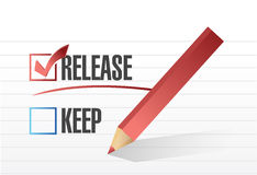Released selected with a check mark. Royalty Free Stock Image