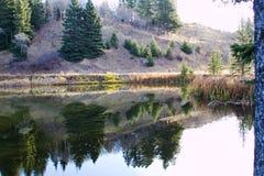 Relection im Wasser an einem ruhigen Tag Lizenzfreie Stockfotos