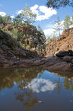 Relections in pool, Flinders Ranges, Australia Stock Photo