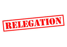 RELEGATION. Red Rubber Stamp over a white background Royalty Free Stock Photography