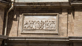 Releif Sculpture on Wall of Vatican Royalty Free Stock Photos