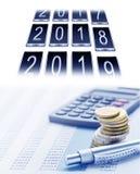 Relevés des compte financier annuels image libre de droits