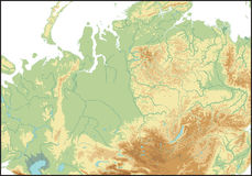 Relevación de Asia del norte. ilustración del vector