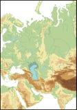 Relevación de Asia occidental. Imagen de archivo libre de regalías