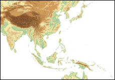 Relevación de Asia Sur-Oriental. Fotografía de archivo