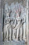 Relevación de Bas, Angkor Wat, Camboya Imagen de archivo libre de regalías