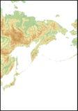 Relevación de East Asia del norte. Fotos de archivo libres de regalías