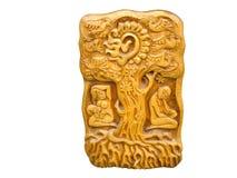 Relevación de madera del arte de la vendimia aislada sobre blanco Imágenes de archivo libres de regalías